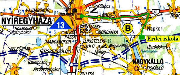 nagykálló térkép Harangodi Erdei Iskola   Megközelíthetőség nagykálló térkép